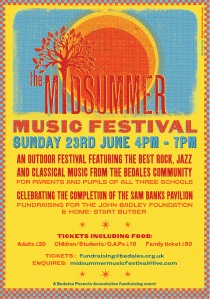Midsummer Music Festival flyer